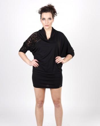 kaseee Kleid wandelbar mit transparenten Einsatz