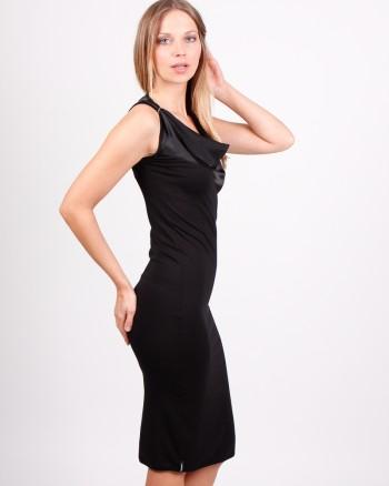 kaseee Kleid mit Seideneinsatz schwarz