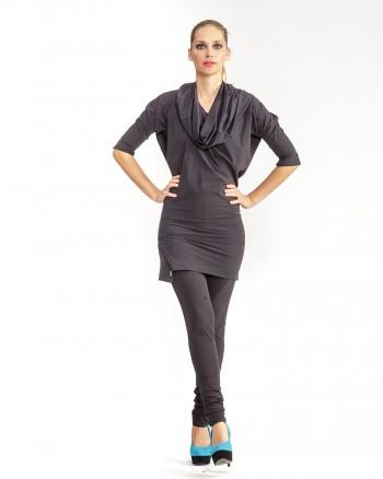 kaseee Kleid mit großem Kragen
